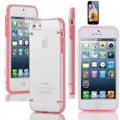 Ultra Thin Transparent Gel Skin Hybrid Case Cover Luminous Glow For iPhone 5s (COLOR PINK