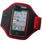 Soft Belt running armband sport case waterproof Pouch Holder Armband for iPhone6(COLOR  RED