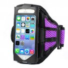 Mesh Gym Armband Case Cover Sports Running Jogging for Apple iPhone5/5S  (COLOR PURPLE