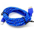 3 M Braided Fabric Micro USB Data&Sync Charger Cable Cord For Cell Phone# 5