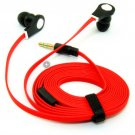 Portable 3.5mm In-ear Stereo Earphone Headset For iPhone Samsung Noodle Cable