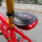 Cycling Bicycle Bike Rear Tail Safety Warning 5 LED+ 2 Laser Flashing Lamp Light(RED LIGHT