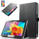 """PU Leather Folio Case Stand Cover For Samsung Galaxy Tab 4 10.1"""" SM-T530 Tablet(COLOR BLACK"""