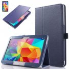 "PU Leather Folio Case Stand Cover For Samsung Galaxy Tab 4 10.1"" SM-T530 Tablet(COLOR DEEP BLUE"