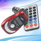 Car FM transmitter Remote Control MP3 Music Player SD MMC USB LCD Red