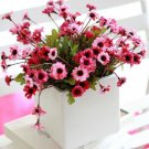 Artificial Cineraria Chrysanthemum Silk Flower Bunch Home Wedding Party Deocr( COLOR PINK
