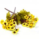 Artificial Cineraria Chrysanthemum Silk Flower Bunch Home Wedding Party Deocr( COLOR YELLOW