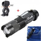 Cree Q5 LED 1200 Lm Cycling Bike Bicycle Head Front Light Lamp Torch+360°Mount