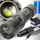 2000LM CREE XM-L T6 LED Rechargeable Flashlight Torch w/ 18650 Battery & Charger