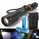 Ultrafire 2000 Lumen 5-Mode CREE XM-L T6 LED Flashlight Torch 18650 Battery + CH