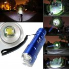 UlltraFire 2000LM CREE XM-L T6 LED 18650 ZOOMABLE Flashlight Torch Lamp Blue