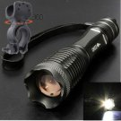 UltraFire 2200Lm CREE XM-L T6 LED Zoomable Flashlight Lamp 18650+360°Light Mount