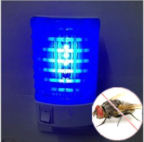 Socket Electric Mosquito Fly Bug Insect Trap Night Lamp Killer Zapper IG