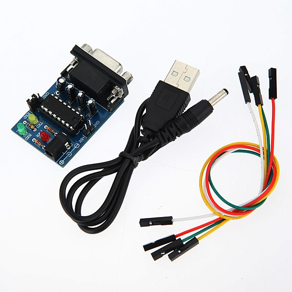 MAX232CPE Transfer Chip RS232 To TTL Converter Module COM Serial Board USB Cable