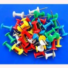 100pcs Multi-Coloured Push Drawing Pins Thumbtacks for Notice Cork Board Map New