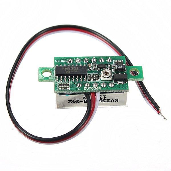 RED DC 0.1-30V LED Panel Voltage Meter 3-Digital Display Voltmeter Motorcycle