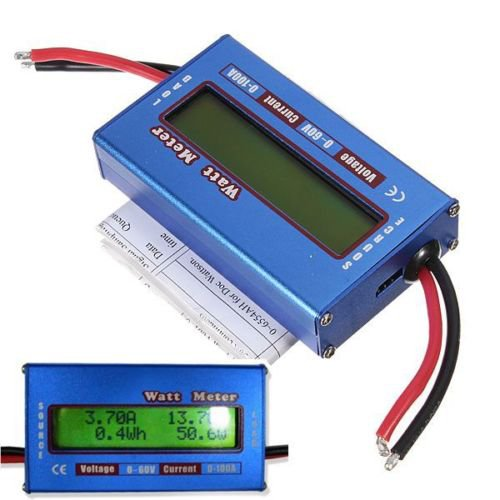 RC Boat Heli Watt Meter Digital LCD Display DC Battery Power Analyzer 60V 100A