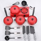 1Set Kids Play House Toy Kitchen Utensils Pots Pans Cooking Food Dishes Cookware