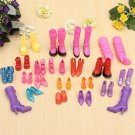 20 Pair Shoes for Barbie Doll Party Ken Grown Blouse Dresses Outfit Clothes