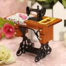 Vintage Miniature Sewing Machine Furniture Toys House for Barbie Doll house 1/12