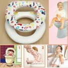Kids Baby Toddler Trainer Toilet Seat Soft Padded Cover Harmless Potty Chair NEW
