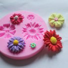 Flower Silicone Clay Soap Mold Fondant Sugarcraft Chocolate Cake Decorating Tool