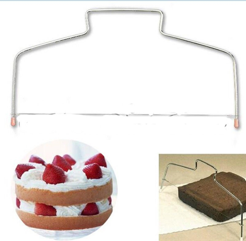 Stainless Adjustable 1 Wire Cake Slicer Leveler Pizza Dough Cutter