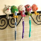 5 x Animal Silicone Toothbrush Holder Family Set Wall Bathroom Hanger Sucker Cup sh