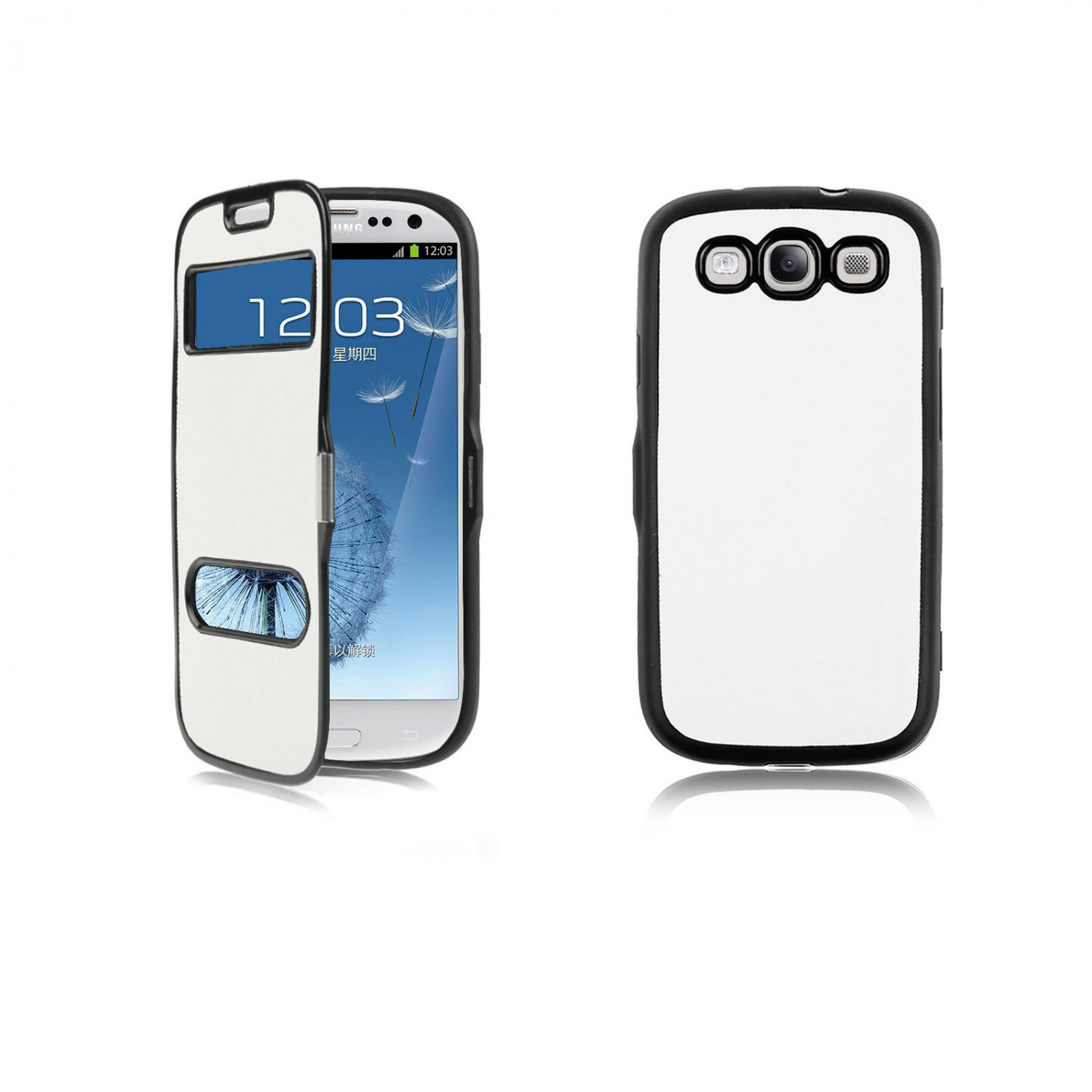 Magnetic Flip TPU Case Cover Hollow View for Samsung Galaxy S3