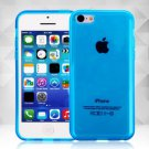 Clear Jelly Color Plain TPU Gel Soft Rubber Case Cover Skin for Apple iPhone 5C( COLOR BLUE