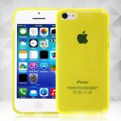Clear Jelly Color Plain TPU Gel Soft Rubber Case Cover Skin for Apple iPhone 5C( COLOR YELLOW