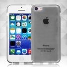 Clear Jelly Color Plain TPU Gel Soft Rubber Case Cover Skin for Apple iPhone 5C( COLOR GREY