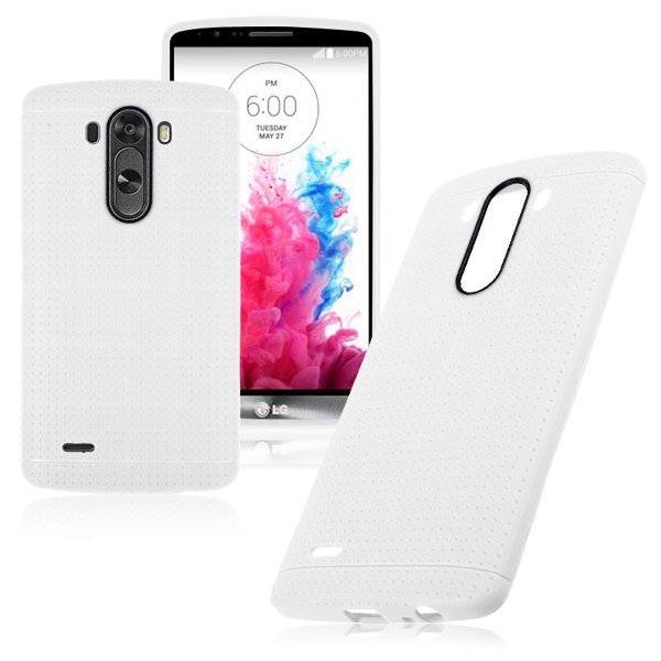 Ultra Slim Soft Gel Flexible TPU Skin Case Cover Back Shell Protector for LG G3(COLOR WHITE