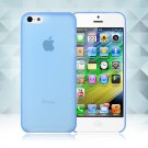 0.3mm Ultra Thin Matte Frosted Clear Soft TPU Back Case Cover Fr Apple iPhone 5C(COLOR BLUE
