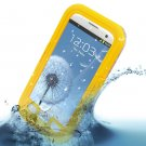 Water Shock Proof Waterproof Case Cover Skin fr Samsung Galaxy S3 III i9300( color yellow