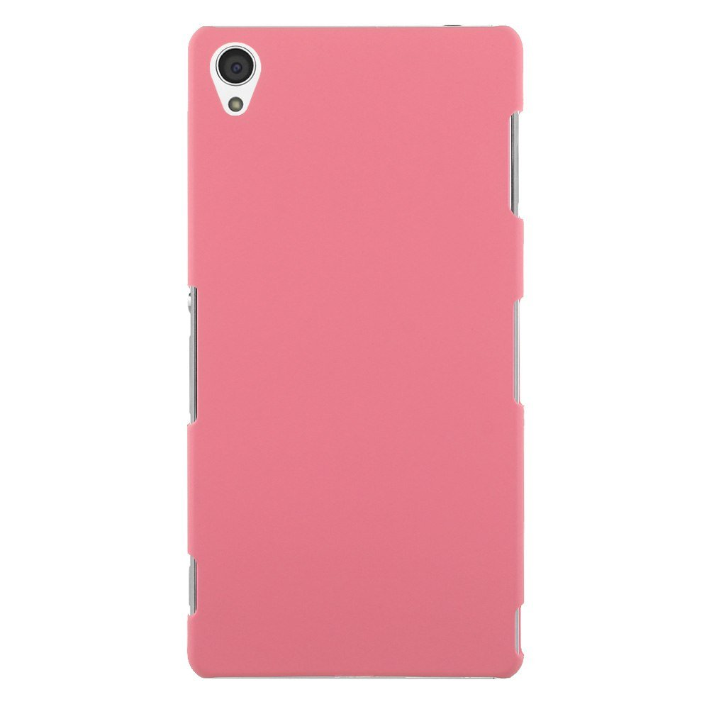 Slim Premium Hard Matte Plastic Snap-On Back Shell Case Cover For Sony Xperia Z3(COLOR PINK