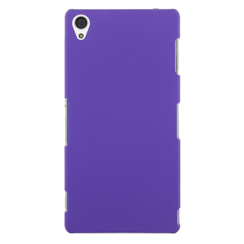 Slim Premium Hard Matte Plastic Snap-On Back Shell Case Cover For Sony Xperia Z3(COLOR PURPLE