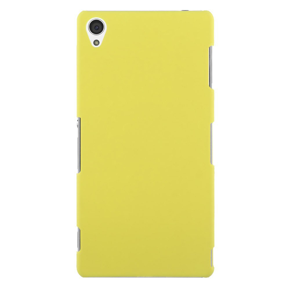 Slim Premium Hard Matte Plastic Snap-On Back Shell Case Cover For Sony Xperia Z3(COLOR YELLOW