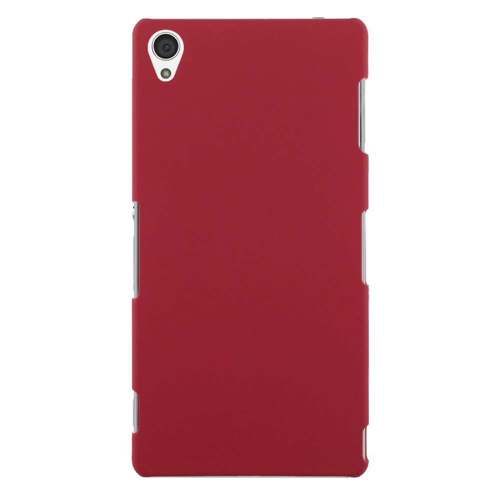 Slim Premium Hard Matte Plastic Snap-On Back Shell Case Cover For Sony Xperia Z3(COLOR RED