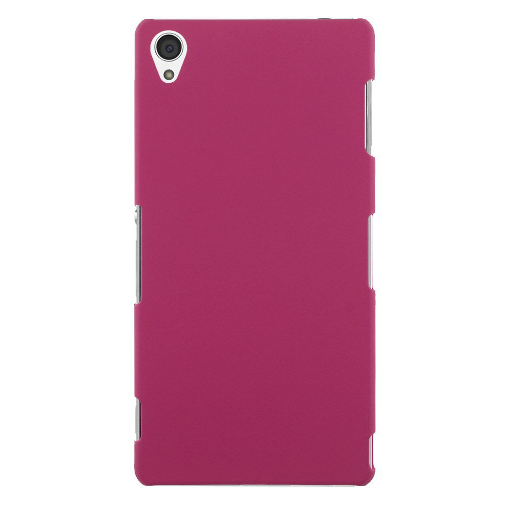 Slim Premium Hard Matte Plastic Snap-On Back Shell Case Cover For Sony Xperia Z3(COLOR ROSE