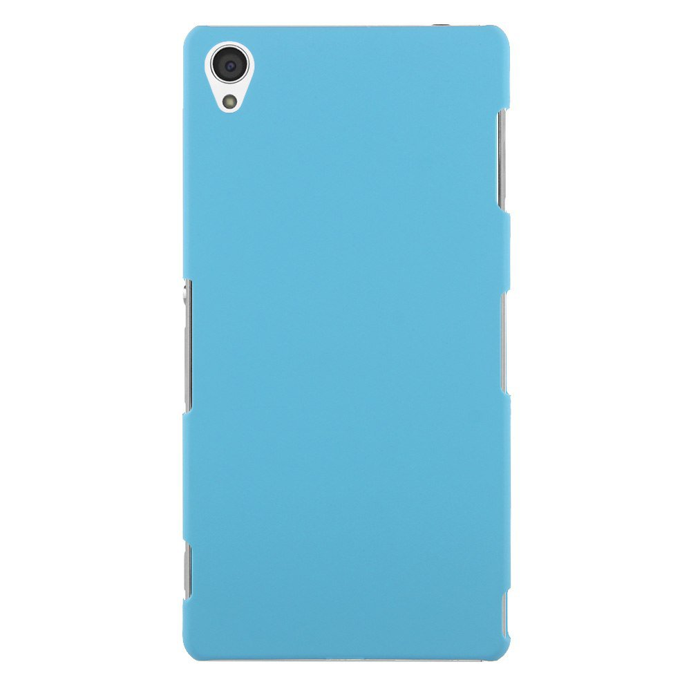 Slim Premium Hard Matte Plastic Snap-On Back Shell Case Cover For Sony Xperia Z3(COLOR LIGHT BLUE