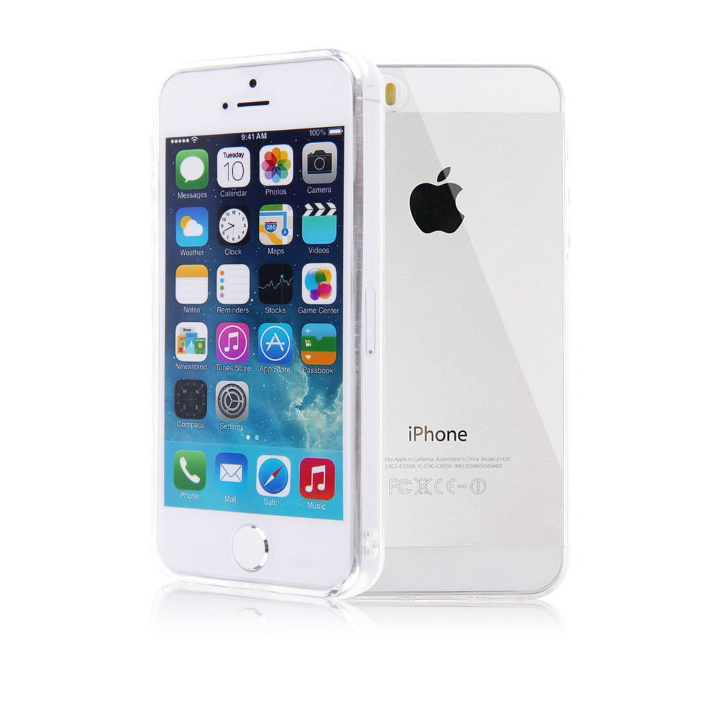 Color Slim Clear Transparent JELLY TPU Gel Soft Skin Case Cover For iPhone 5 5S ( COLOR CLEAR