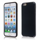 "PU Leather + TPU Four Sides Protector Cover Case Skin for iPhone6 4.7""( COLOR BLACK"