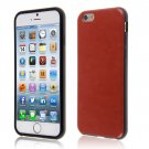 """PU Leather + TPU Four Sides Protector Cover Case Skin for iPhone6 4.7""""( COLOR BROWN"""