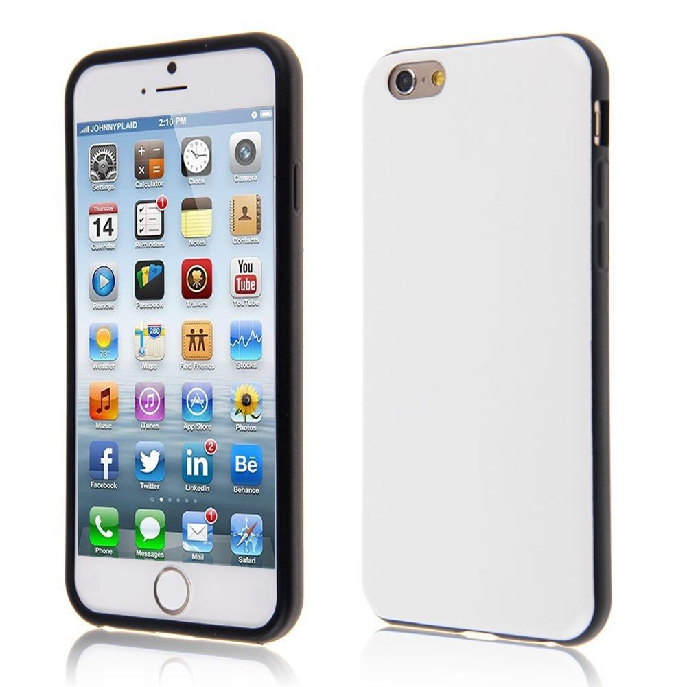 "PU Leather + TPU Four Sides Protector Cover Case Skin for iPhone6 4.7""( COLOR WHITE"