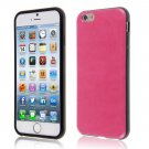 "PU Leather + TPU Four Sides Protector Cover Case Skin for iPhone6 4.7""( COLOR ROSE"