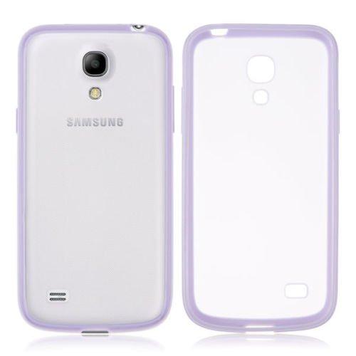 TPU Bumper Frame Matte Clear Back Cover Case for Samsung Galaxy S4 IV Mini i9190 ( COLOR PURPLE