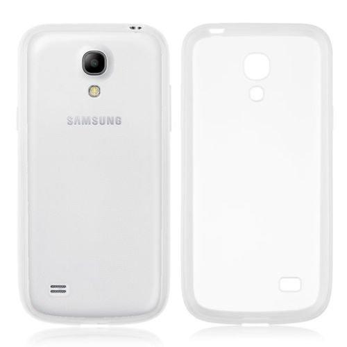 TPU Bumper Frame Matte Clear Back Cover Case for Samsung Galaxy S4 IV Mini i9190 ( COLOR WHITE