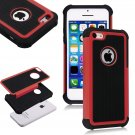 Apple iPhone 5C Colorful Heavy Duty Hybrid Rugged Hard/Soft Matte Cover Case(COLOR  RED