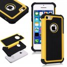 Apple iPhone 5C Colorful Heavy Duty Hybrid Rugged Hard/Soft Matte Cover Case(COLOR  YELLOW